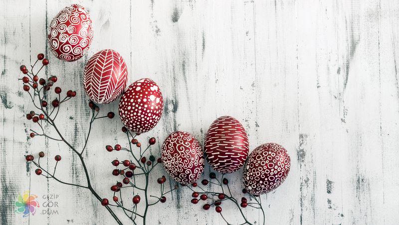 Kiev'de alışveriş Paskalya yumurtaları
