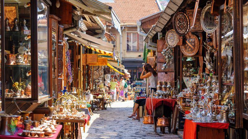 Bakırcılar Çarşısı Saraybosna gezilecek yerler