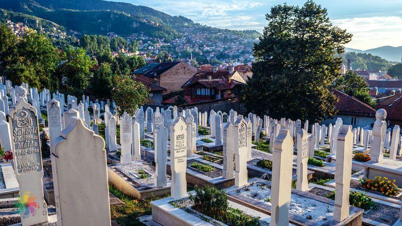 Alifakovac Mezarlığı Saraybosna gezilecek yerler