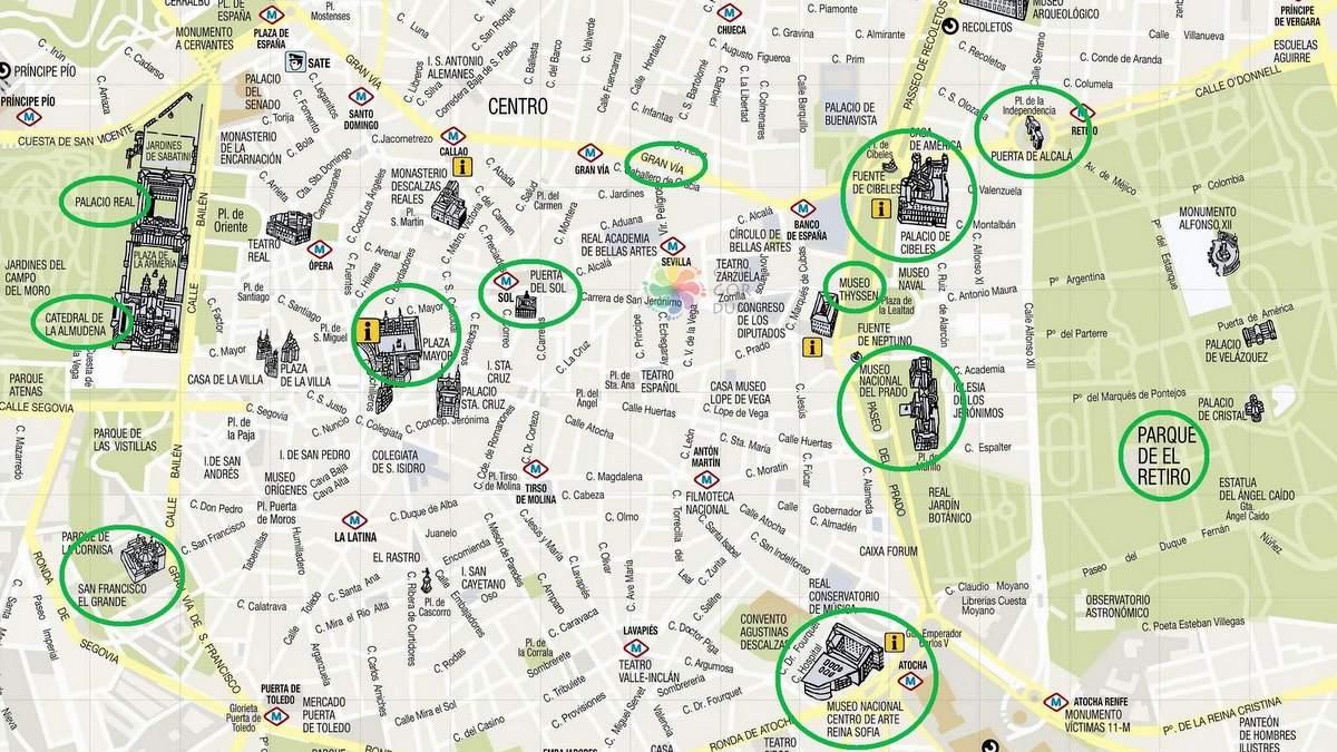 Madrid'de nerede kalınır bölgeler